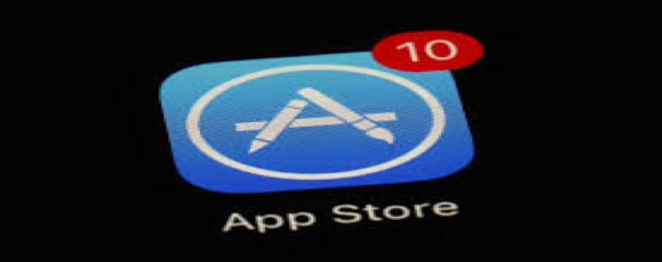 Photo of Apple App Store icon with 10 badge notifications.